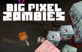 Big pixel zombies flash spēle