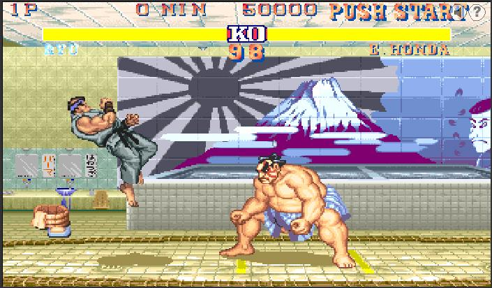 Street fighter 2 flash spēle