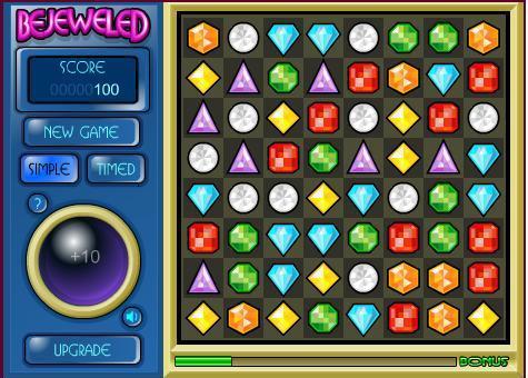 Bejeweled flash spēle