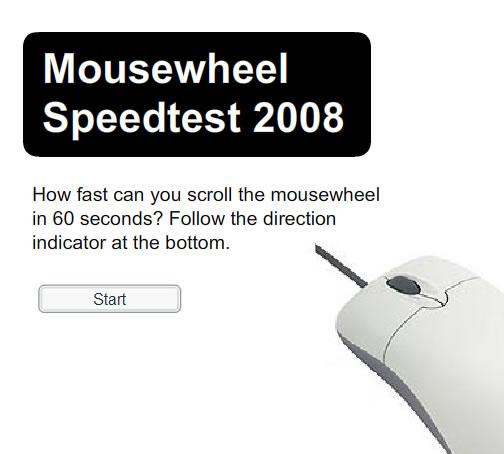 Mousewheel speedtest flash spēle