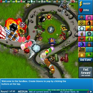 Bloons tower defense 4 flash spēle