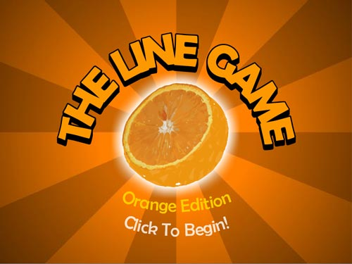 The line game orange flash spēle